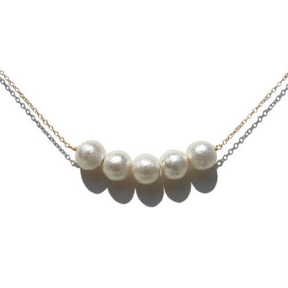 Cotton Pearl Necklace -H-