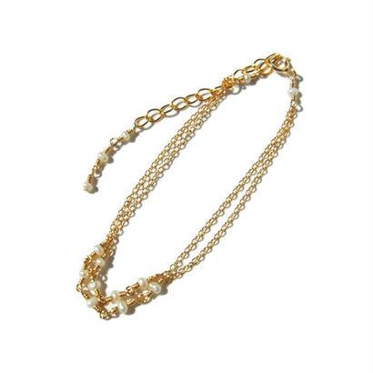 Tiny Pearl Double Bracelet