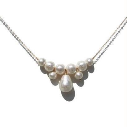 Cotton Pearl Necklace -C-