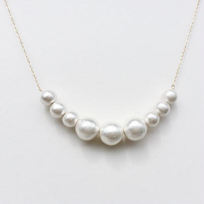 Cotton Pearl Necklace -G-