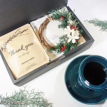 WINTER[Flower & Coffee SET]]BOX入/メッセージドリップバック5個+ミニリース