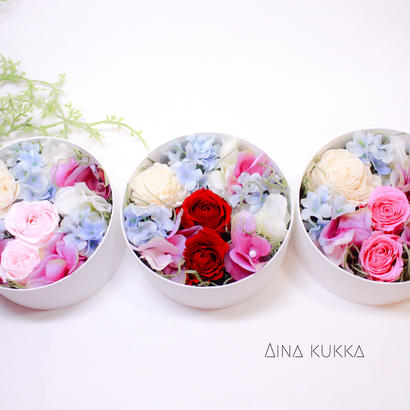 [Flower Box  Ssize]プリザーブドフラワー×アーティフィシャルフラワー