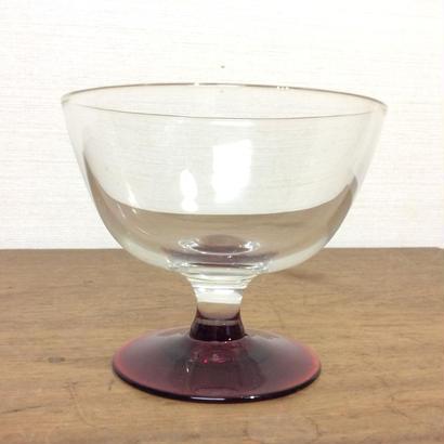 赤ガラスのデザートグラス