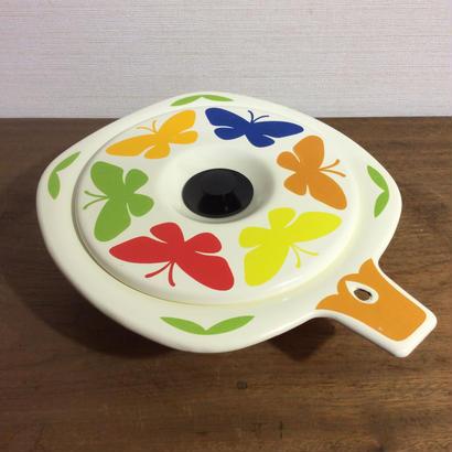 レトロ柄の琺瑯小鍋