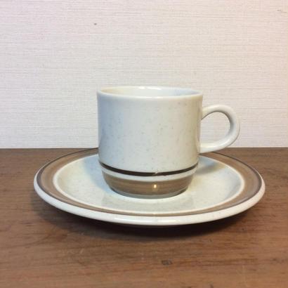 カップ&ソーサー(茶ライン)
