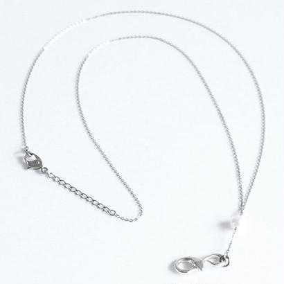 【albino】 アックユランSV925×パールY字型ネックレス