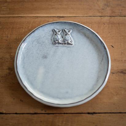 【受注制作】うさぎの中くらいのお皿 17センチ
