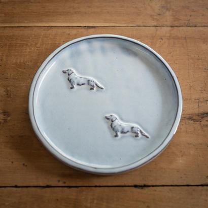 【受注制作】ダックスフントの中くらいのお皿 17センチ