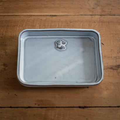 【受注制作】ある犬の肖像の横長プレート(女の子) 15.5センチ×11.5センチ