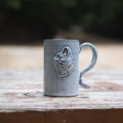【受注制作】ある猫の肖像のマグカップ 高さ10センチ
