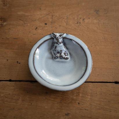 【受注制作)うさぎの小皿