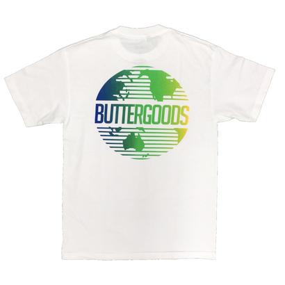 Butter  Goods - Gradent World Wide Logo S/S Tee White