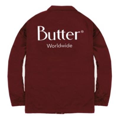 Butter Goods -  Classic Coach Jacket Burgundy