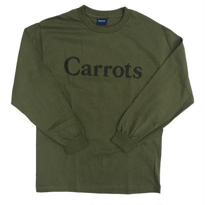 Carrots - Wordmark L/S T-Shirt Olive