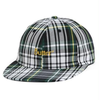 Butter Goods - PLAID 6 PANEL HAT, WHITE