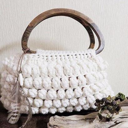 poko poko knitbag【ホワイト】