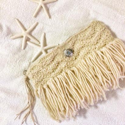 WAVE knit clutchbag