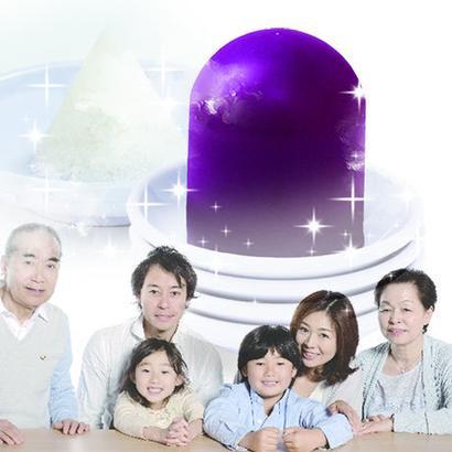 【スイートスペシャル記念】紫 盛り塩卵セット 家庭円満&商売・仕事運アップ