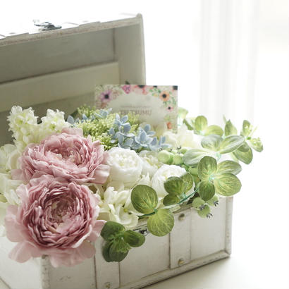 ふんわり優しいお花の小箱【大】