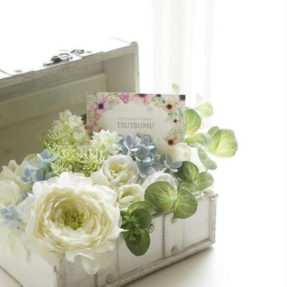 ふんわり優しいお花の小箱【小】