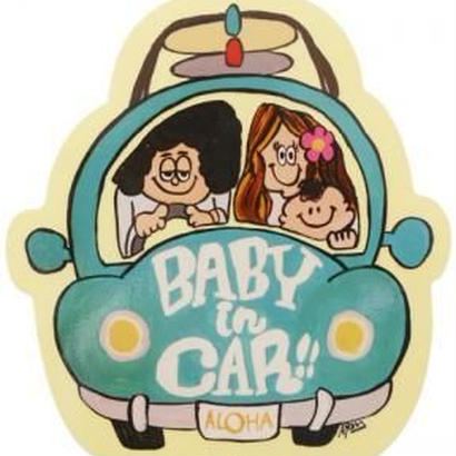 103 BABY IN CARsticker