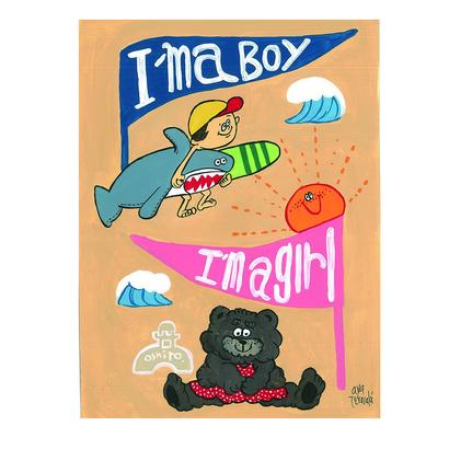 011 I'maboy I'magirl postcard