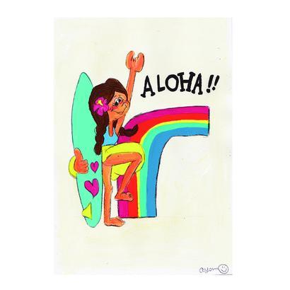 021 Rainbow  aloha postcard
