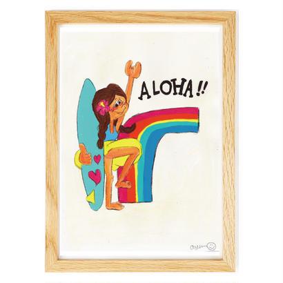 046 Rainbow  aloha    A4size