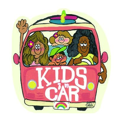 104 KIDS IN CAR sticker