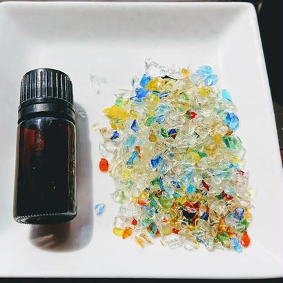 「虹のかけら」琉球ガラスカレット30g