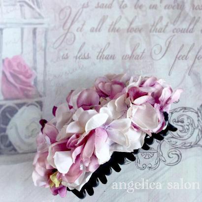 大人可愛い紫陽花のヘアアクセサリー クリップタイプ アンティークピンク髪飾り アーティフィシャルフラワー アートフラワー