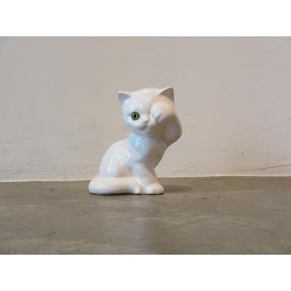 vintage ceramic cat ornament