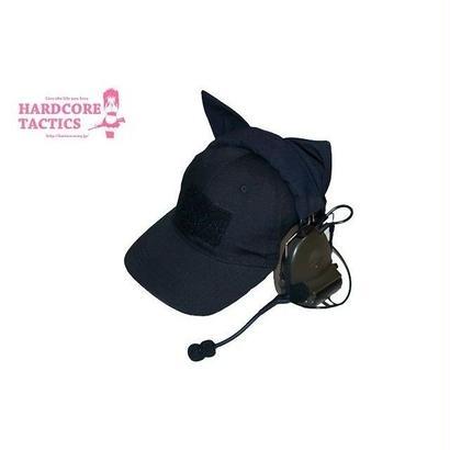 HARDCORE TACTICS 猫耳ヘッドセットカバー BK