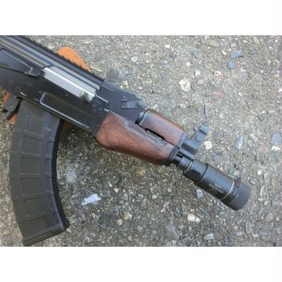 在庫品 マルイ βスペツナズ・AK47 HC用クリンコフタイプウッドハンドガード ウォルナット色ツヤなし1