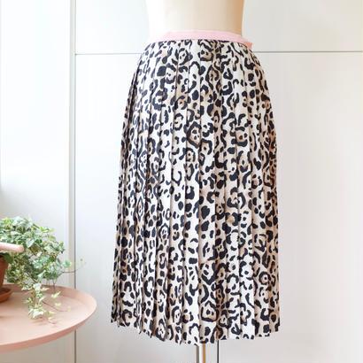 SOWA |  「Madam Mysterious」レオパードプリーツスカート