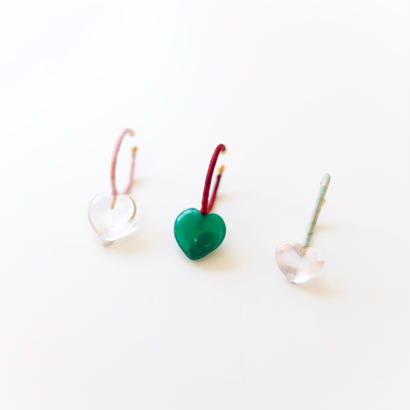 KIKKOU |  Heart stone earcuff