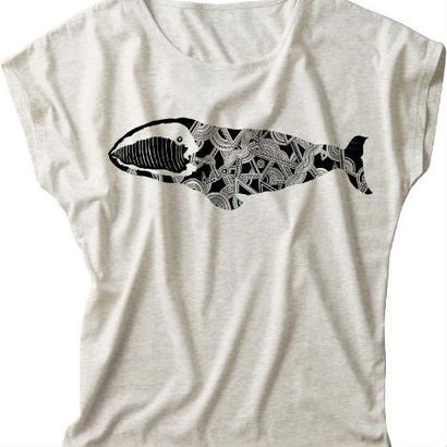 【レディースTシャツ】セミクジラ