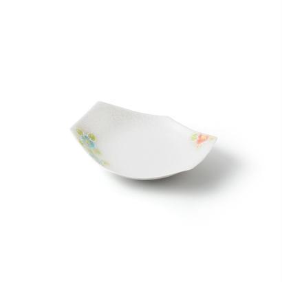 パール山茶花 六角皿