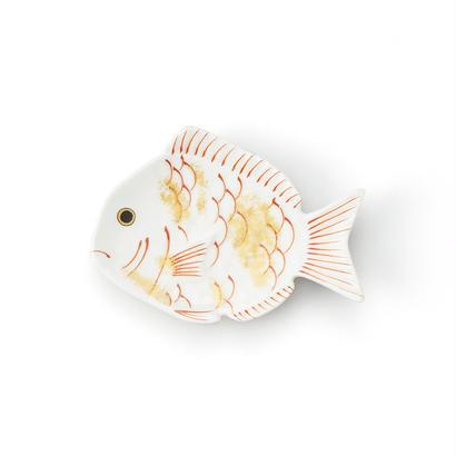 錦金 鯛形小皿