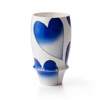 バレンタイン(青)−プレミアムビアグラス−