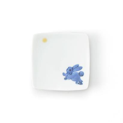 月兎紋 6cm角小皿