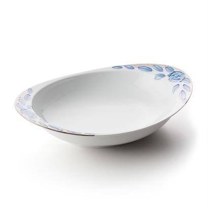プラチナローゼ(ブルー)−極上のカレー皿【大】−
