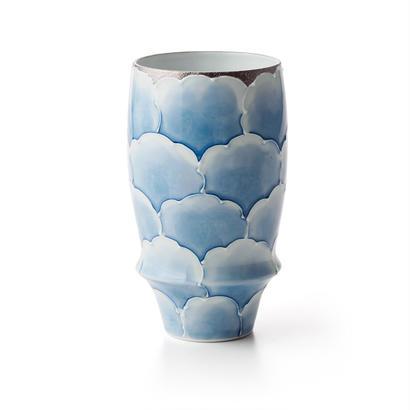 プラチナ牡丹(ブルー)−プレミアムビアグラス−