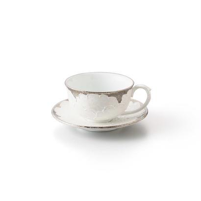 パール牡丹(プラチナ)デミタスカップ&ソーサー
