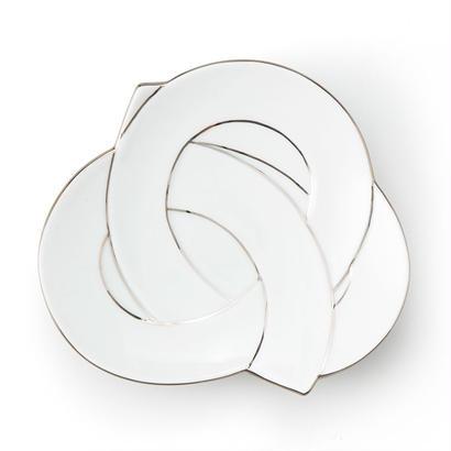 むすび銘々皿 プラチナ