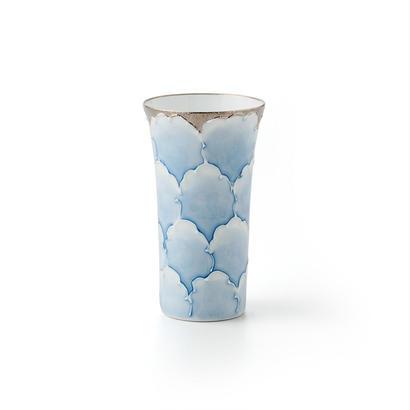 プラチナ牡丹(ブルー)一口コップ