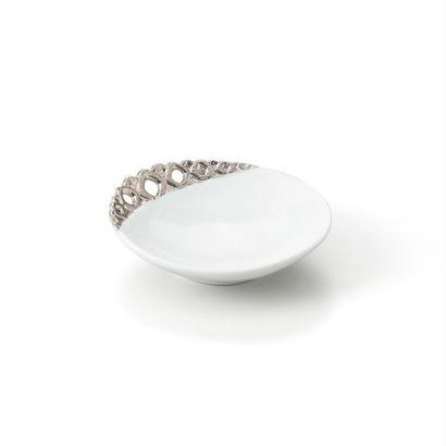プラチナ透かし彫 小皿