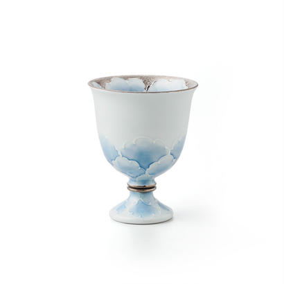プラチナ牡丹(ブルー)ワインカップ