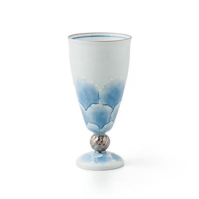 プラチナ牡丹(ブルー)洋酒杯