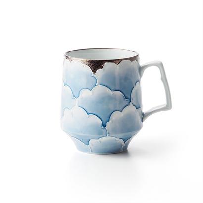 プラチナ牡丹(ブルー)モーニングマグ